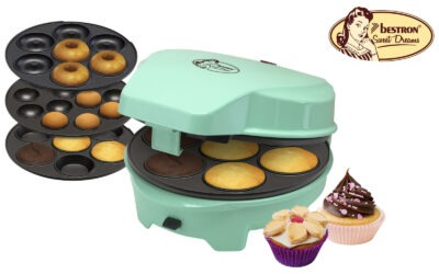 3 in 1 Cake maker – donuts, cupcakes en cakepops – 700W – Mint