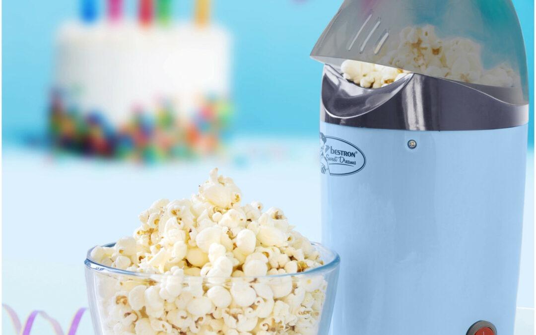 Popcornmaker – 1200W – Blauw