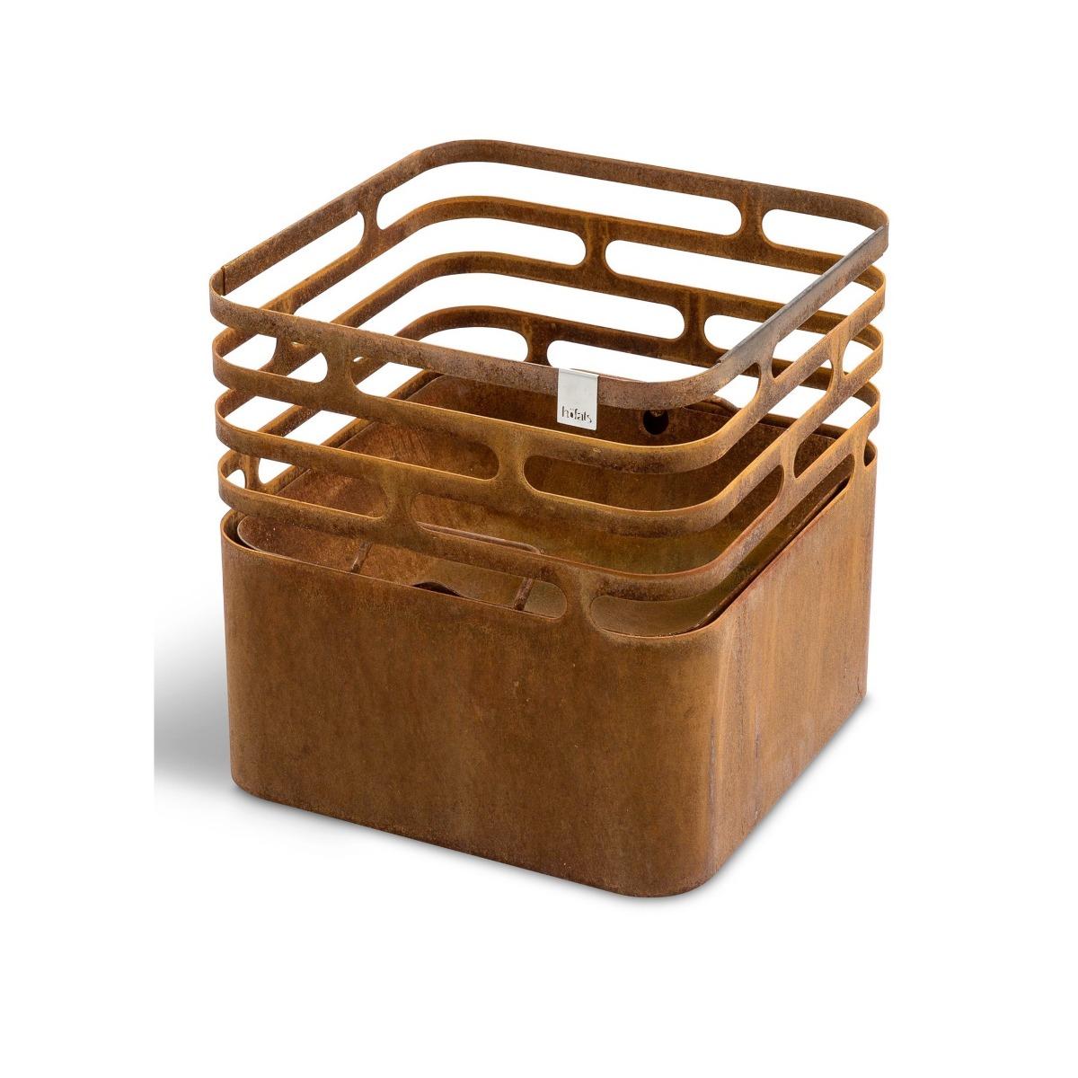Cube Vuurkorf Multifunctioneel - roest